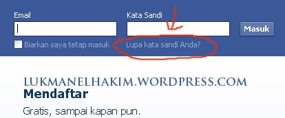 klik lupa password