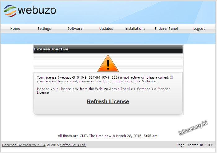 Cara Ampuh Downgrade Lisensi Webuzo.